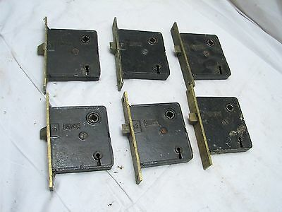 Lot 6 Russwin Brass Mortise Locks Architectural Door Hardware