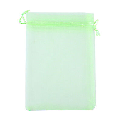 """50pcs Jewelry Packing Drawable Organza Bags Gift Pouches 4.5*3.5"""" Green"""