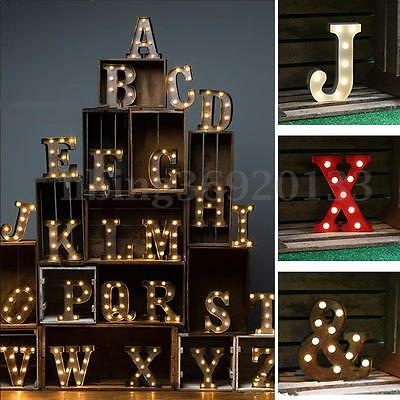 12'' LED Marquee Letter Light Vintage Alphabet Circus Style Light Up Sign White
