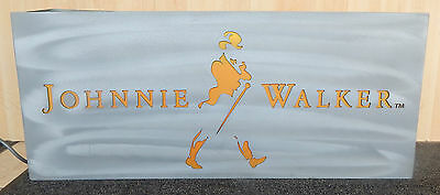 Johnnie Walker Illuminated Bar Sign Man Cave For Christmas Whisky Used