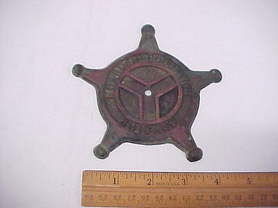 Vintage Brass or Bronze Board of Education Chicago Plaque