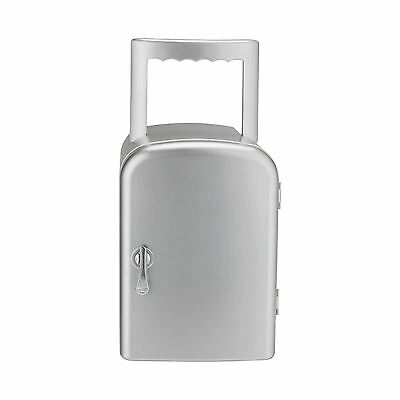Things 4 Litre Silver Mini Portable Travel Fridge Cooler & Food Warmer