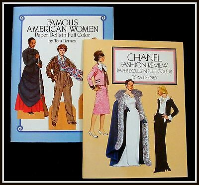 Paper Dolls~Chanel Fashion Review & Famous American Women~Tierney~Collectible