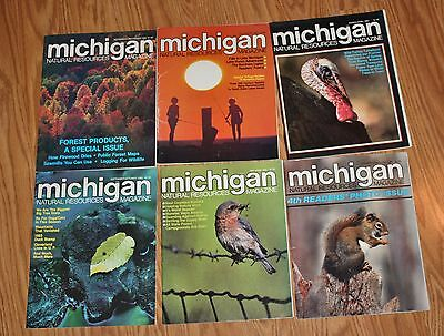 Lot of 6 Issues of Michigan Natural Resources Magazine Complete set of 1983