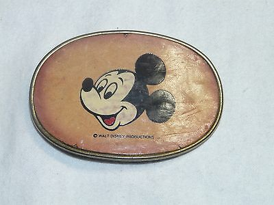 Mickey Mouse Vintage Cowboy Leather Top hand crafted Belt Buckle