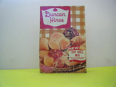 Vintage 1950's Duncan Hines Hot Roll Mix Unopened Full Sealed Box