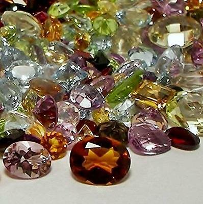90+ Ct Mix Lot Loose Faceted Natural Gemstones Mixed Gems Wholesale Loose G