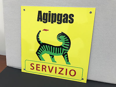 RARE  Agip Servizio oil  gasoline racing vintage advertising sign ferrari