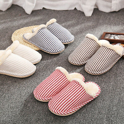 Mens Womens Home Anti-slip Sandal Soft Winter Warm House Indoor Slippers Shoes