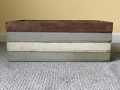 """Lot Of 4 Vintage Dovetailed 19"""" X 13""""  Wood Trays"""