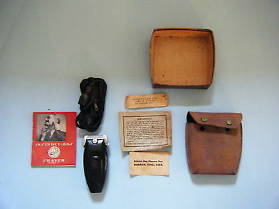 Vintage 1940's Schick Shaver Model S With Paperwork & Cleaning Kit Complete