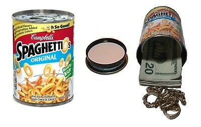 Hormel Chili Diversion Can Safe hide cash jewelry stash box metal piggy bank