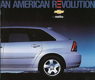 2005 Chevy Chevrolet Malibu Dealer Sales Brochure Literature - Original
