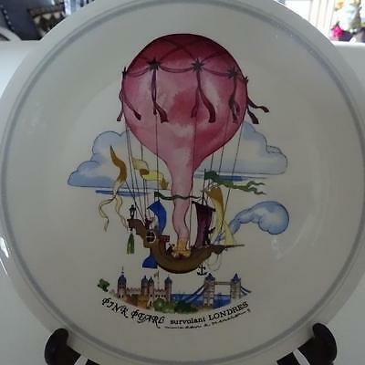 """Villeroy & Boch Famous """"Balloon Series"""" 1980's Plate - """"London No5""""- Germany"""