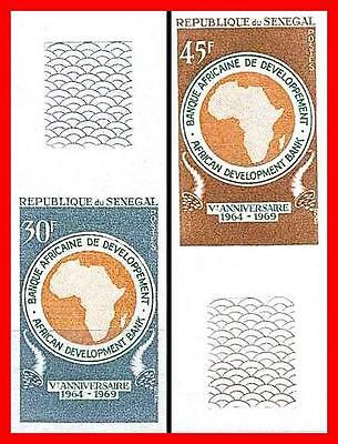 SENEGAL 1969 BANK imperforated w/LARGE MARGIN SC#317-18 MNH JOINT ISSUE