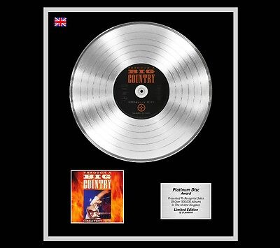 BIG COUNTRY Ltd Edition CD Platinum Disc Record GREATEST HITS