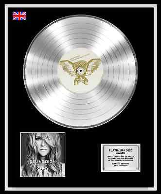 CELINE DION Ltd Edition CD Platinum Disc Record LOVED ME BACK TO LIFE