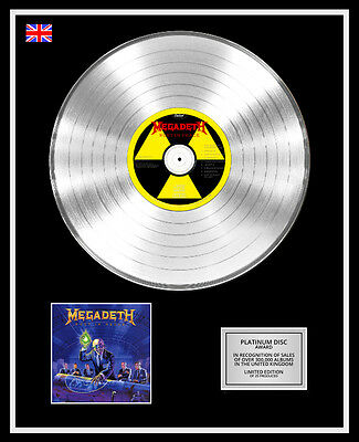 MEGADETH Ltd Edition CD Platinum Disc Record RUST IN PEACE