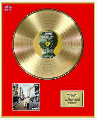 OASIS Ltd Edition CD Gold Disc Record (WHAT'S THE STORY) MORNING GLORY?