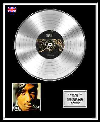 2PAC Ltd Edition CD Platinum Disc Record GREATEST HITS