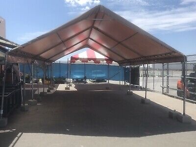 20x20 PVC Tent Top and Frame Only