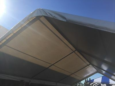 20x40 PVC Tent Top and Frame Only