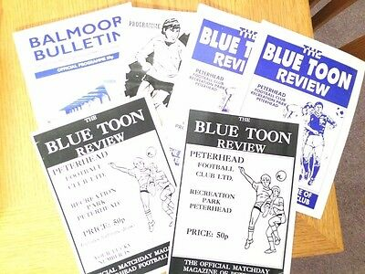 5 different COVE RANGERS  home programmes from the1990s SCOTTISH NON LEAGUE