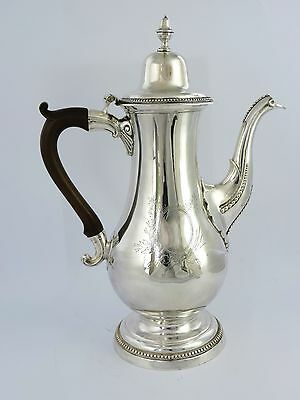 Superb quality Georgian SILVER COFFEE POT, NEWCASTLE 1784 Langlands & Robertson