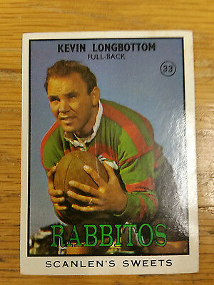 1968 Scanlens Series 2 Rugby League-#33 Kevin Longbottom