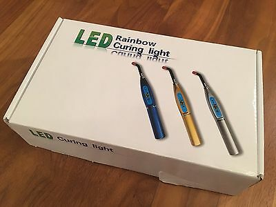 Silver Dental Rainbow Curing Light - LED, Wireless, Cordless - USA SELLER