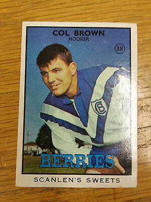 1968 Scanlens Series 2 Rugby League-#38 Col Brown