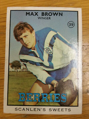 1968 Scanlens Series 2 Rugby League-#39 Max Brown