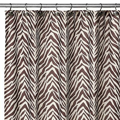 Watershed Park W Smith Zebra Natural Fabric Shower Curtain 72 X NIP