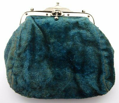 Lovely Suede Victorian purse in good condition with working fastener