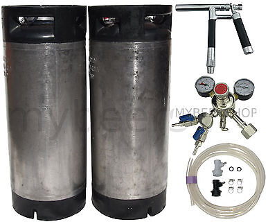 PLUTO BALL LOCK KEG KIT with PREMIUM REGULATOR HOME BREW BEER SYSTEM KEGGING DIY