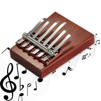 6 Key Kalimba Mbira Likembe Sanza Finger Thumb Piano Rosewood Musical New NS