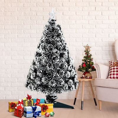 HOMCOM 3FT Artificial Christmas Tree Scattered LED Snow Edge