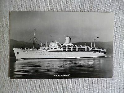 Postcard Of The  P & 0 'chusan'  Passsenger Ship As Shown In The Photographs