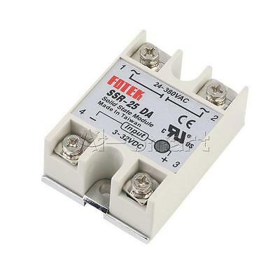 New Solid State Relay Module SSR-25DA 25A /250V 3-32V DC Input 24-380VAC Output