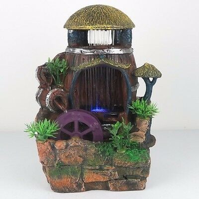 """Water Fountain w/ LED Lights Watermill Zen Indoor Home Decor 11""""H New"""