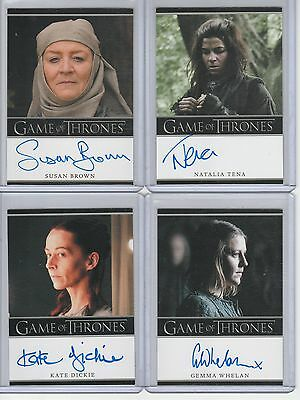 Game Of Thrones Season 2 Auto Gemma Whelan Bordered Autograph