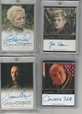 Game Of Thrones Season 1 Auto Harry Lloyd Full Bleed Autograph