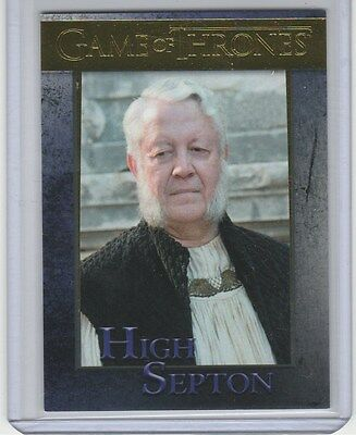 Game Of Thrones Season 5 Gold Base Card 77 High Septon 98/150