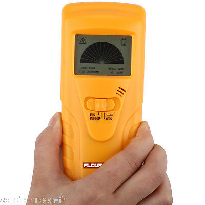3 in 1 Multi Detector Stud Center Finder Metal AC Live Cable Wire Detect LCD UK