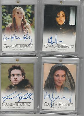 Game Of Thrones Season 2 Auto Michelle Fairley Full Bleed Autograph