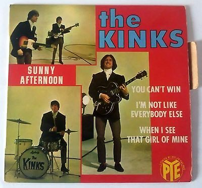 THE KINKS - Sunny afternoon + 3T - Vinyle 45T - FRANCE