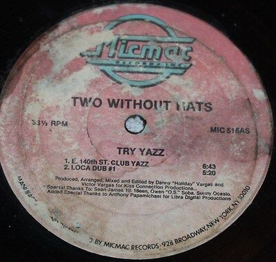 """TWO WITHOUT HATS * TRY YAZZ * Classic House 12"""" Vinyl"""