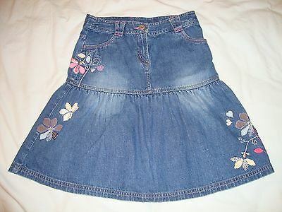 NEXT girls' denim skirt, size 8 years, vgc