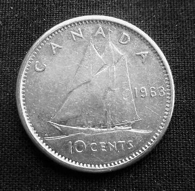 10 Cents Canada 1963 80% Silver Coin #2808