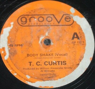 "T.C. CURTIS * BODY SHAKE * Classic Soul Funk Boogie 12"" Vinyl"